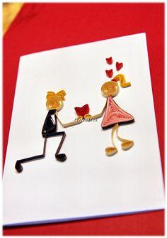 Grußkarte für Proposal Valentinstag Hochzeit Liebe von Liebeabies auf DaWanda.com