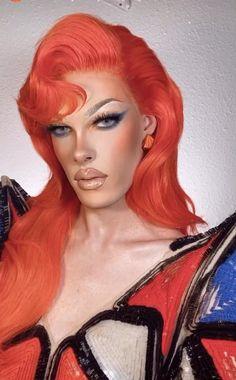 Drag Queen Makeup, Drag Makeup, Eye Makeup, Makeup Shayla, Christina Aguilera Red Hair, Best Drag Queens, Drag Queen Outfits, Drag Wigs, Exotic Makeup