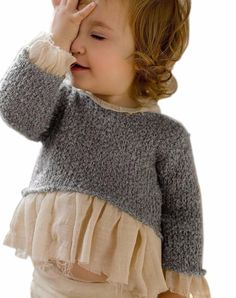 Baby Girl Knit Sweater We are with you with the sought-after baby knitting models. The baby knitting Little Girl Fashion, Little Girl Dresses, Fashion Kids, Girls Dresses, Baby Outfits, Kids Outfits, Girls Knitted Dress, Knit Dress, Girls Sweaters