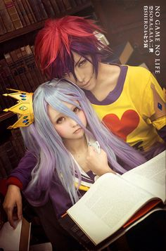 No Game No Life, Sora and Shiro cosplay---incredibly well done