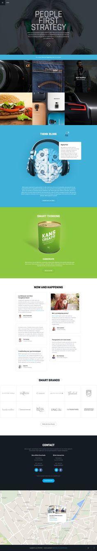 Blink Interactive is Live. Website Design by Bart Ebbekink for Blink Interactive, on dribbble.