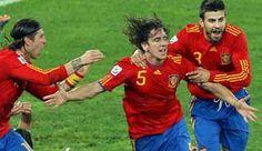Las camisetas de España en los últimos mundiales de fútbol
