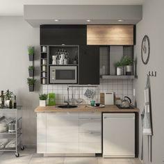 Studio Apartment Kitchen, Small Apartment Interior, Studio Kitchen, Condo Kitchen, Kitchen Room Design, Home Decor Kitchen, Kitchen Interior, Kitchen Remodel, Country Kitchen