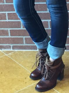 On trend, this lace up boot pairs perfect with a cuffed skinny or rock it with your new sun dress!