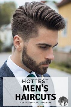Best Men's Haircuts - Cool Hairstyles For Guys. Whether you want to get an undercut or fade haircut on the sides or a quiff, comb over, pompadour, faux hawk or textured crop on top, here are the most popular cuts and styles.