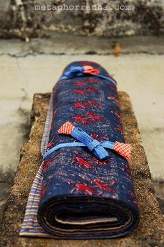 #homespun and #handwoven #khadi #floor-mat .