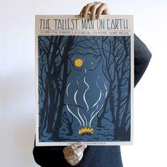 Monday with our #thetallestmanonearth poster. Very last copies left! #poster #gigposters #posterdesign #rockart #folk #folkmusic #swedish #illustration #ilustracion #design #designinspiration #owl #forest #ttmoe #barcelona #handmade #screnprint #screenprintedposter #serigrafia #indieart #indierock #artwork #art #artoninstagram #drawing #print #music by munster_studio https://www.instagram.com/p/BCFGWn5PBSc/ #jonnyexistence #music