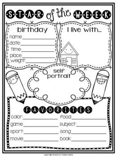 STAR OF THE WEEK STUDENT POSTER FREEBIE {BACK TO SCHOOL ACTIVITY}! - TeachersPayTeachers.com