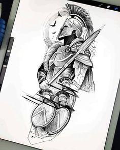 Warrior Tattoo Sleeve, Lion Tattoo Sleeves, Warrior Tattoos, Best Sleeve Tattoos, Sleeve Tattoos For Women, Viking Tattoos, Geometric Sleeve Tattoo, Tattoo Sleeve Designs, Tattoo Designs Men