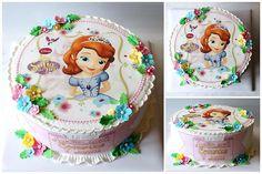 Фотография Princess Sofia Cake, Princess Sofia Birthday, Sofia The First Birthday Party, Bolo Sofia, Bolo Grande, Princesa Sophia, Girl Cartoon Characters, Character Cakes, Sugar Art
