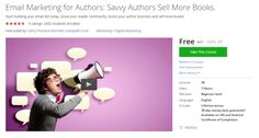 Email Marketing for Authors: Savvy Authors Sell More Books.  http://hii.to/Vydee_wHe  #udemy #coupon #discount #couponcode #email marketing