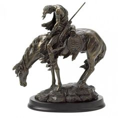 "Accent Plus 31044 ""The End Of The Trail"" Statue"