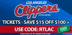 Discount Code on #Clippers Tickets! See #BlakeGriffin & #ChrisPaul play at the Staples Center!