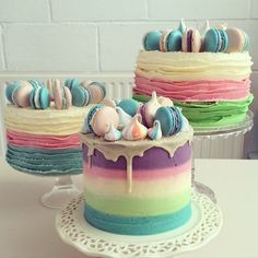 food, pastel, and ‎macarons image
