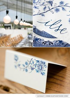 Delft design and wedding stationery for our gorgeous bride Ilse & groom Aleks