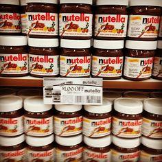 Shelf of Nutella, Market Basket, Chelsea