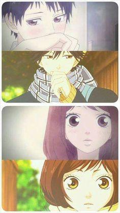 Ao Haru Ride lol same thing at a different time XD Futaba Yoshioka, Futaba Y Kou, M Anime, Kawaii Anime, Anime Art, Fairy Tail, Manga Love, I Love Anime, Kuroko
