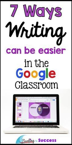 7 Ways Writing Can Be Easier in the Google Classroom   Help your students during writer's workshop in a whole new way.