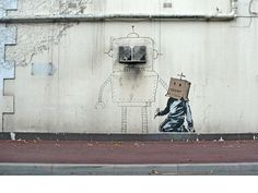 Robot Friends...  - by Banksy