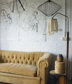 cream velvet Chesterfield sofa