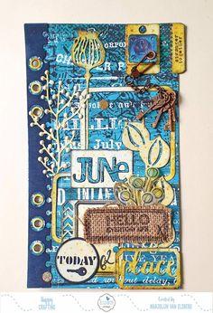 Planner Page Art Journal Pages, Art Journaling, Junk Journal, Bullet Journal, Altered Book Art, Glue Book, Elizabeth Craft Designs, Planner Pages, Design Crafts
