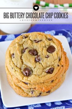 This might be the best chocolate chip cookie recipe yet! Just a few small changes to a standard chocolate chip cookie recipe and these are big, chewy, buttery and so delicious!