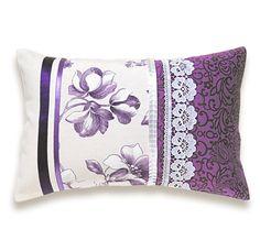 Decorative Purple Lavender Lilac Lumbar Pillow by DelindaBoutique, $38.00