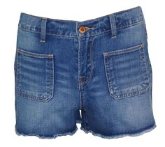 Lucky Brand Womens Jean Shorts Denim Patch Pockets Cutoffs Blue Sz 29 NEW $79.50 #LuckyBrand #Denim