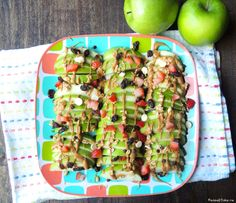 Loaded Apple Nachos | peas of cake
