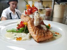 Why aren't you dining at #wildsagebistrospokane now?  We're ready to serve you!  Fresh #salmon and #crab.