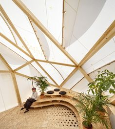 Built by MARGEN-LAB in Barcelona, Spain with date 2014. Images by Adrià Goula. ENDESA WORLD FAB CONDENSERis a thermodynamic prototype, a bioclimatic dome now installed in the currently changing G...