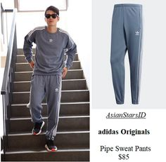 IG - Mario Maurer: adidas Originals Pipe Sweat Pants $85 Photo: @mario_mm38, @adidas    For more and/or where to buy this item, visit asianstarsid.com  #mario_mm38 #adidas #adidasoriginals #mariomaurer #sweatpants #pants #fashion #thailand #th #actor #channel3 #asianstarsid