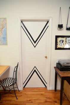 New York Apartment: Chevron Doors by Stacie Stacie Stacie, via Flickr