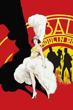Vintage Poster - Moulin Rouge - Showgirl