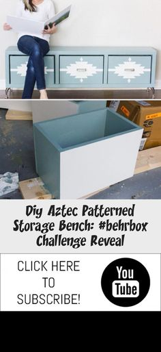 Build your own DIY storage bench! #diywoodbenchSimple #diywoodbenchIndoor #diywoodbenchMidCentury #diywoodbenchFarmhouse #diywoodbenchDiningRoom Diy Wood Bench, Diy Storage Bench, Behr Marquee Paint, Beginner Woodworking Projects, Basic Tools, Traditional Furniture, Wood Working For Beginners, Furniture Legs, Aztec
