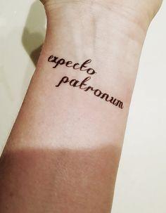 Harry Potter - Expecto Patronum - Temporary Tattoo. Love these geeky temporary tattoos!