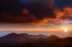 #sunrise over haleakala #maui #hawaii