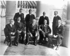 Woodrow Wilson with his Cabinet.