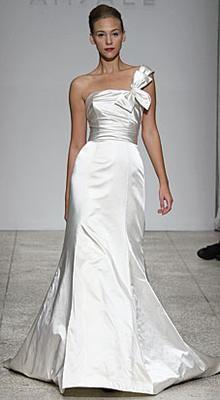 Shoulder bow is unique - Amsale Kennedy - Sample Wedding Dress  