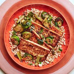 Farro Recipes, Healthy Recipes, Healthy Meals, Healthy Eating, Tofu Recipes, Delicious Recipes, Clean Eating, Marinated Tofu, Cooking Tofu
