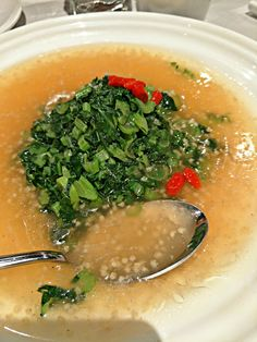 China: Mustard Greens in Seafood  Broth