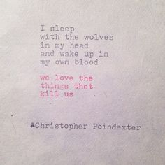 The Blooming of Madness ~ Christopher Poindexter