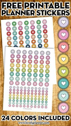Free Printable Happy Planner Discs Stickers (in 24 colors) - Lovely Planner - Free Planner Stickers Printable Planner Stickers, Journal Stickers, Free Printables, Diy Stickers, Free Planner, Happy Planner, Planner Ideas, Bujo, Day Planners