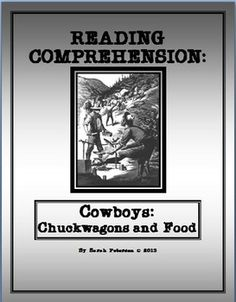 This product is great for Social Studies (History) and Language Arts (Reading Comprehension).  The product contains: one page of informational text on Cowboys in the 1800s: Food on the Trail;  a worksheet of reading comprehension questions (both literal and inferential questions); and a teachers key.4-6 grade and homeschool  GREAT FOR CHARTER SCHOOL SAMPLE. Also can work with any non-fiction graphic organizer for CLOSE READING.