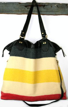 I want a Khepri Hudson Weekender SO BAD IT HURTS. And you will too, after you check out all of her other bags too. (all are made from recycled materials, and are im-perfectly unique)