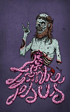 Zombie Jesus by Olav Åsheim, via Behance