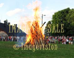 for sale finnish midsummer fire and people around