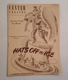 Vintage #RockefellerCenter 1944 Hats Off To Ice Program #SoniaHenie Book #Skating Show