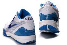 Nike Zoom Kobe IV Shoes White Blue 0831239746