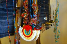 'Tiki Style' necklaces in our Tropical Vintage Store!! #oneofakind #accessoires #bali #necklaces